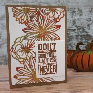 Nice flowered card