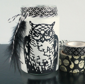 Easy Halloween Lantern with Ornate Owl