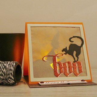 Halloween Tea light Card + VIDEO