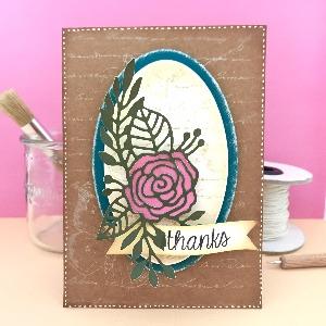 Romantic Thank you card