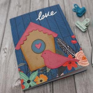 Love, flowers and bird notebook