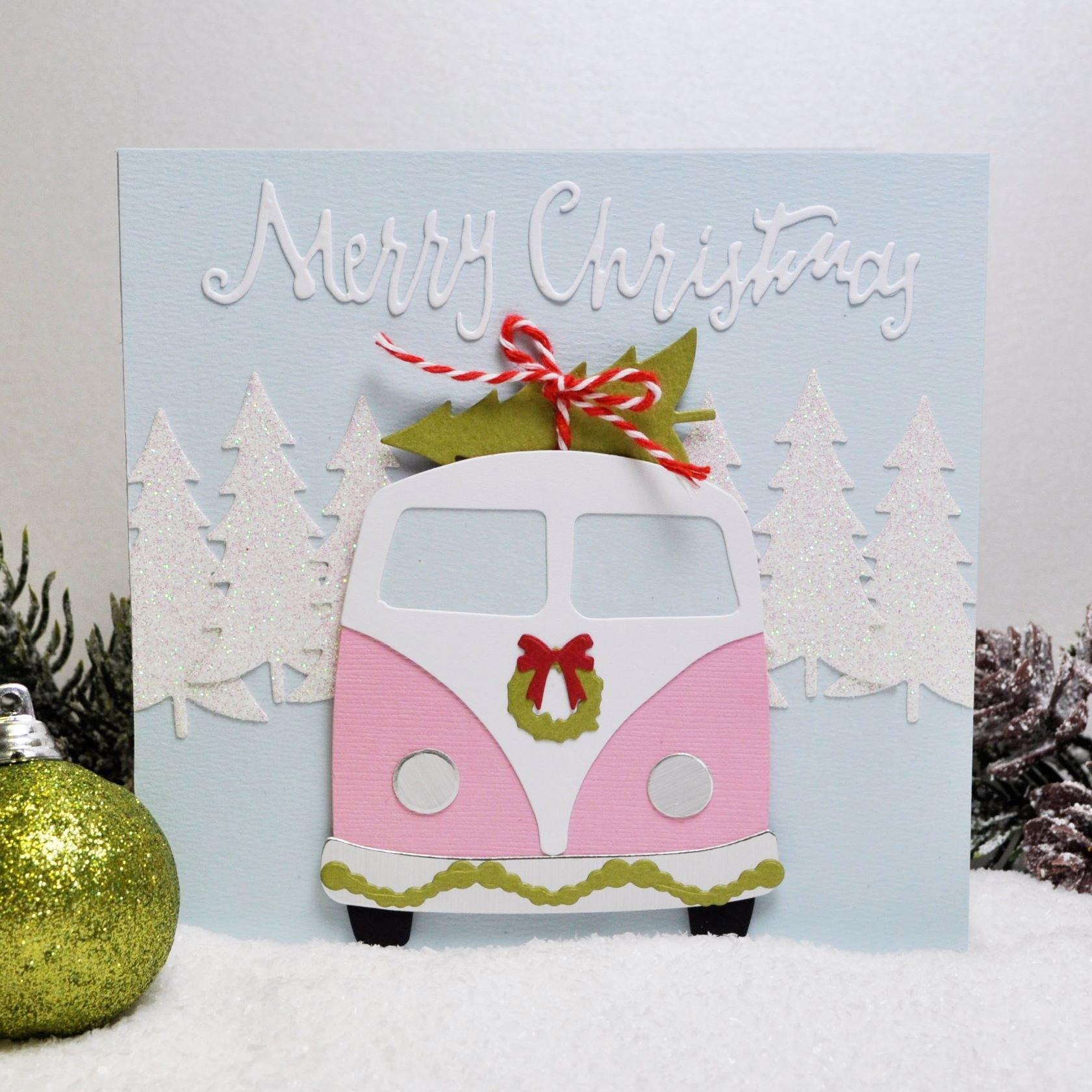 Vintage VW Van Christmas Card