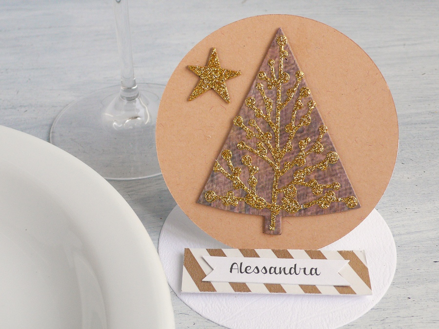 Easel Card - Christmas Place card + Video
