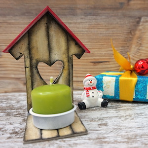 Happy House candle holder