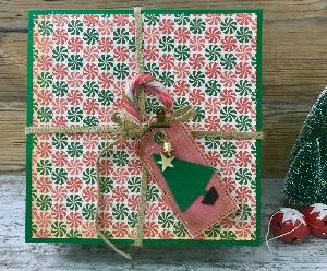 Felt Christmas tree gift tag