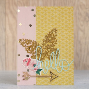 Floral Butterfly Hello Card