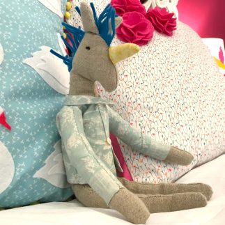 My unicorn softee in Sizzix Lifestyle booth at Creativeworld