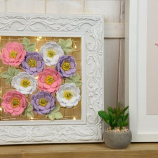 DIY Light-Up Flower Frame