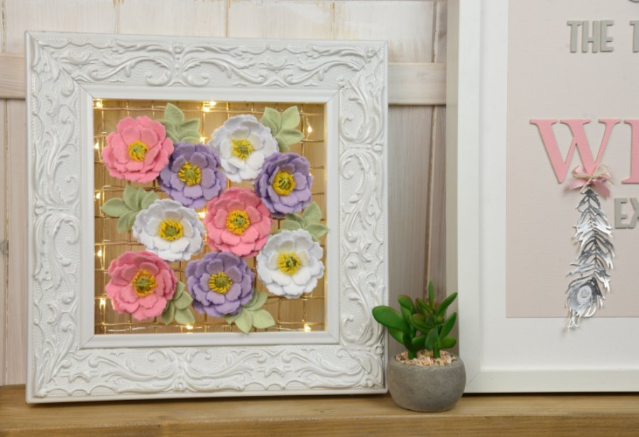DIY Light-Up Flower Frame | Leanne Rowlands | Daily inspiration from ...