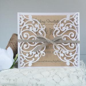 Handmade Lace Wedding Invitation