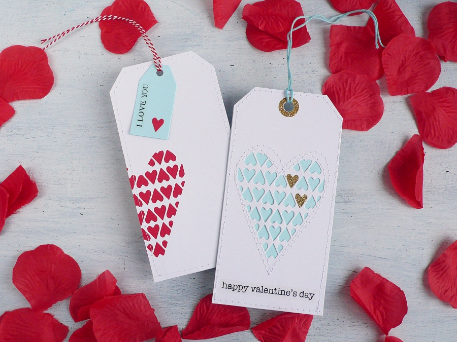 Clean and Simple Valentine's day Tag