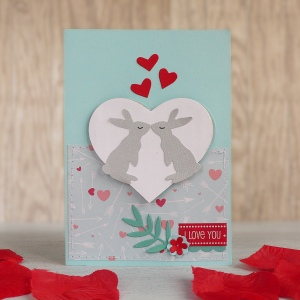 Valentine's day card - Bunny Love