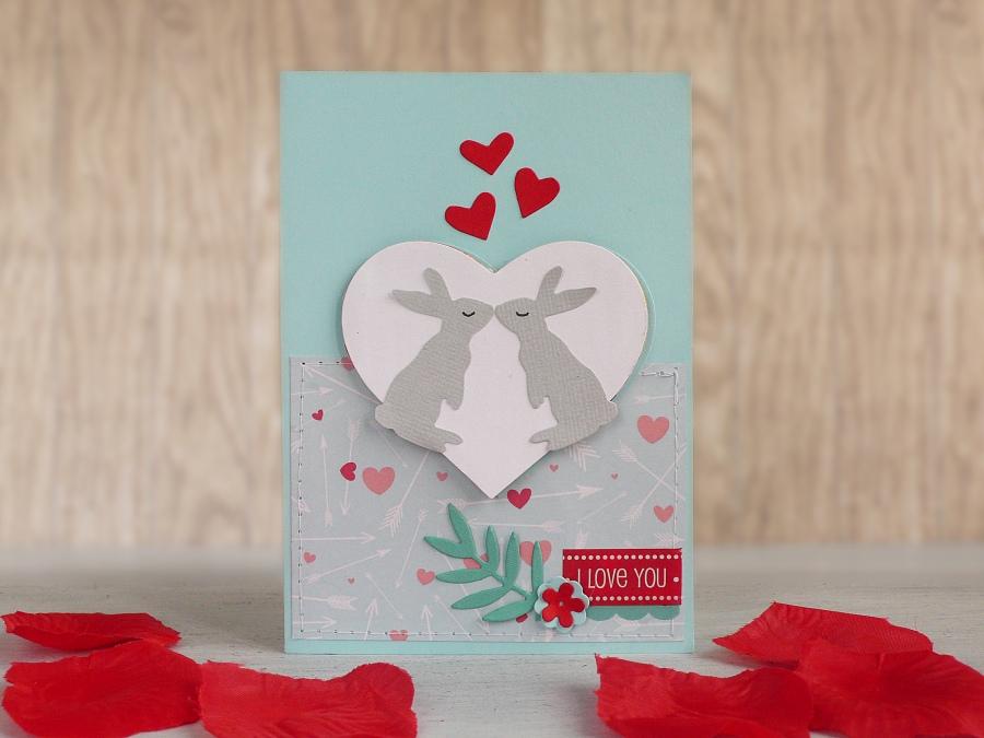 Valentine's day card Bunny Love