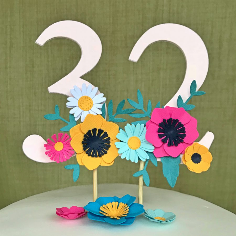 DIY Folk Floral Cake Topper