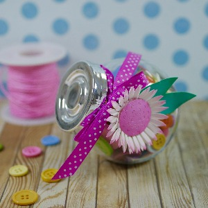 Decorated button jar!