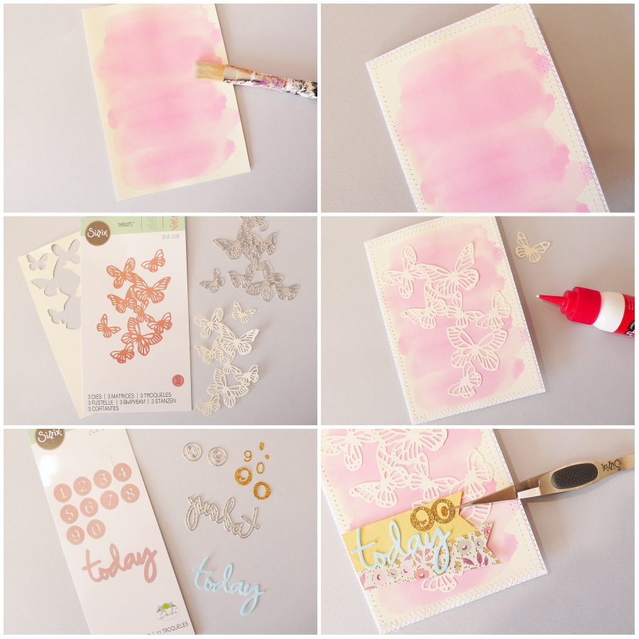 Handmade Birthday Butterflies Card
