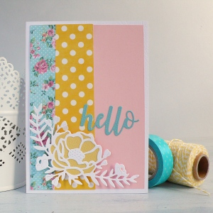 Handmade Pretty Peony Hello Card