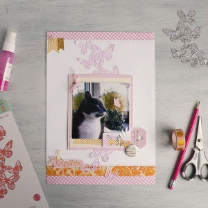 How to Create a Scrapbook Layout using Butterflies die set