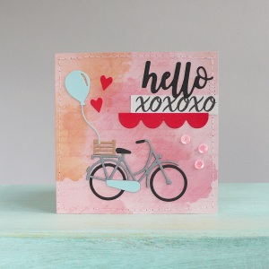 Valentine's day card – Bicycle and Hearts