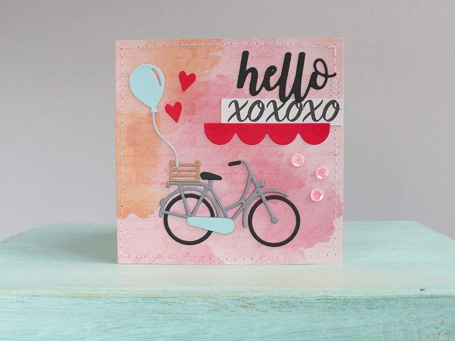 Valentine\'s day card – Bicycle and Hearts | Daily inspiration from ...