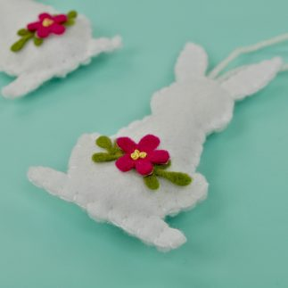 Blanket Stitch How To: Felt Easter Bunny