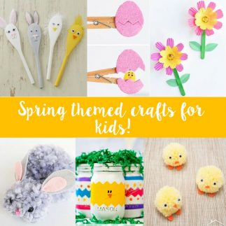 Spring themed crafts for kids!