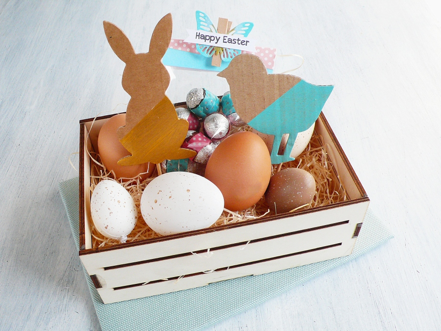 DIY Modern Easter Basket with Spring Animals