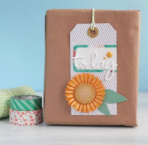 Handmade Tag - Sunflower