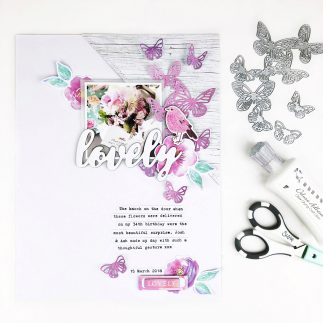 A Fluttery Scrapbook Layout