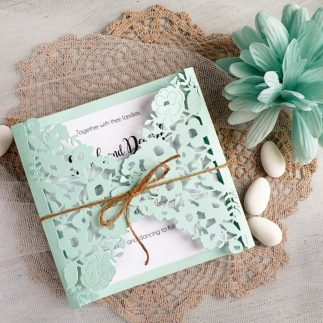 DIY Elegant mint Wedding invitations + Video