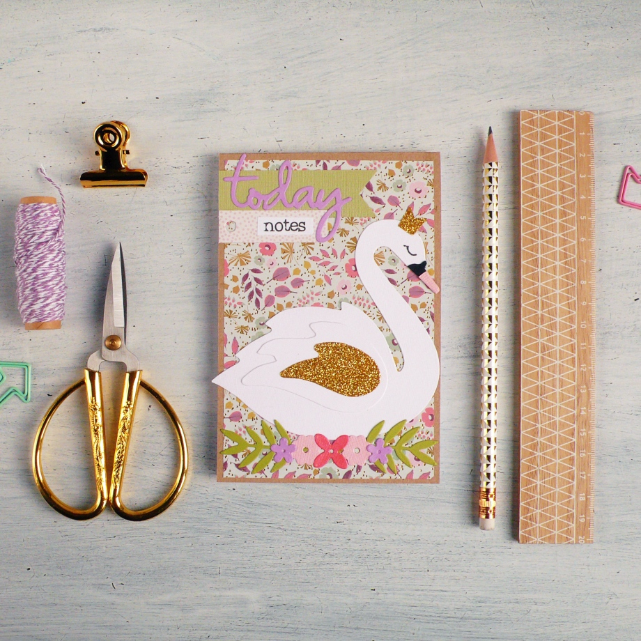 DIY Swan Notebook Cover