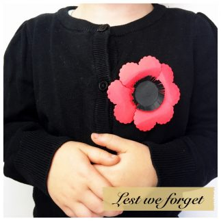 DIY Brooch Anzac Poppy