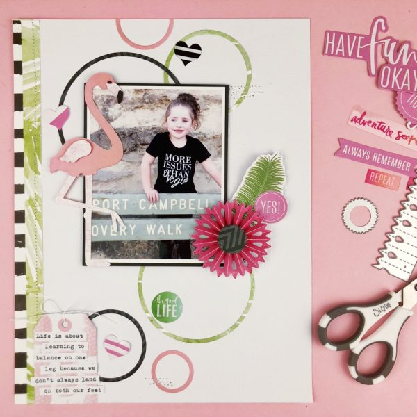 Be a Flamingo - a Scrapbooking Layout