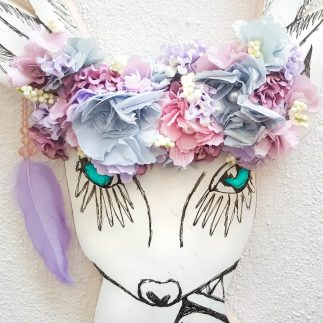 A Boho Styled Floral Deer Head