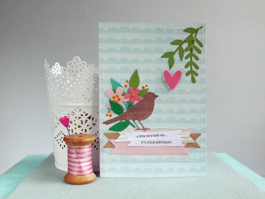 "Handmade Birthday Card ""Little Bird"""