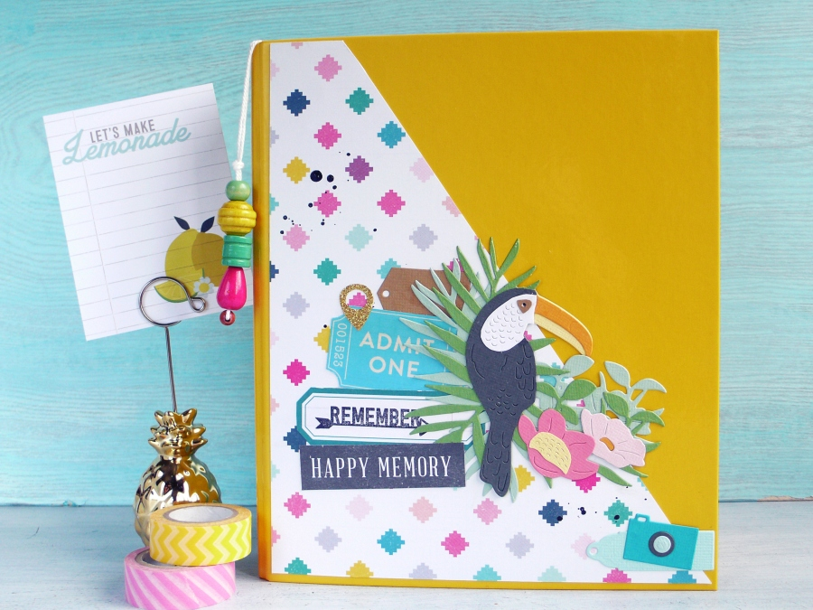 Embellishing Mini Album Cover with Tropical Bird