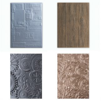 Our new 3-D Texture Fades Embossing Folders have launched!