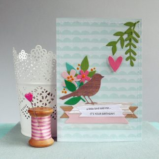 "Handmade Birthday Card ""Little Bird"""