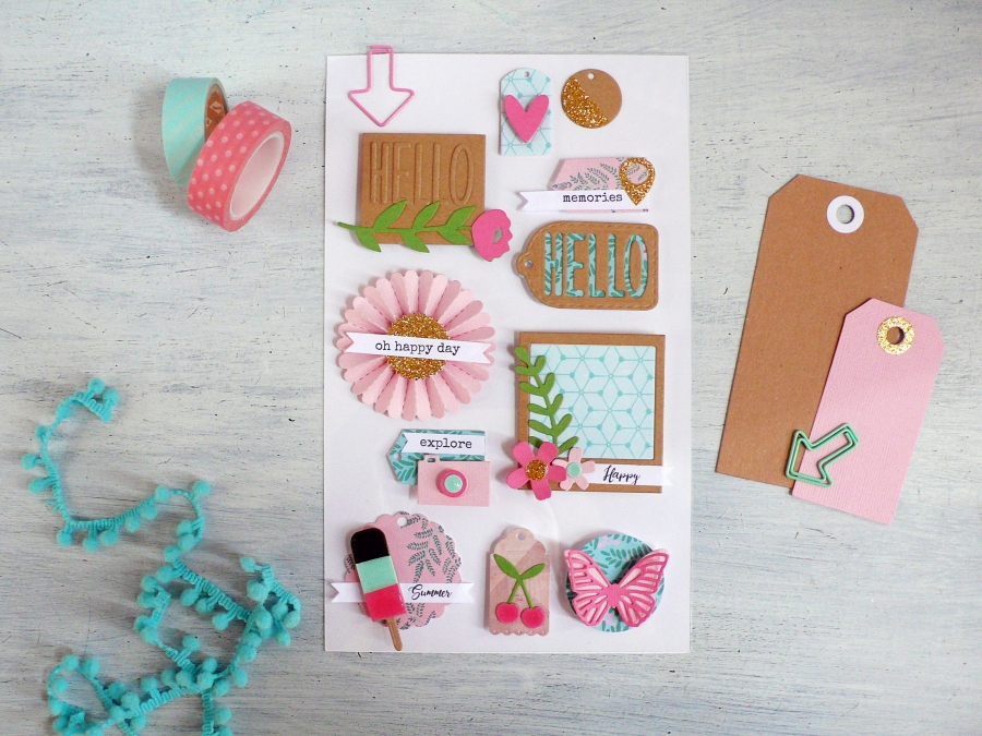 Make your own Embellishments for PaperCraft projects