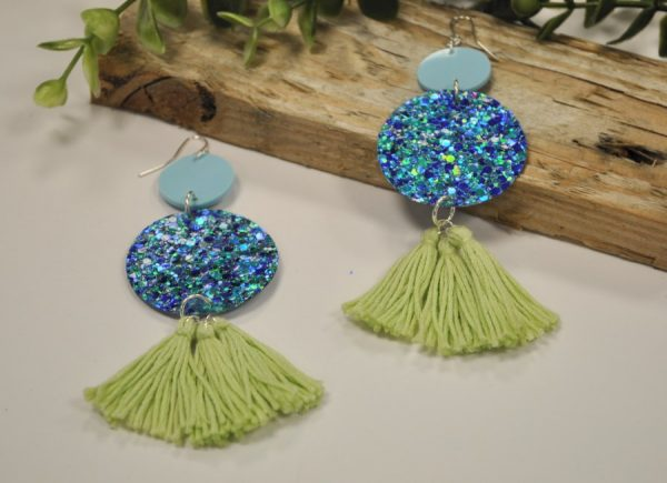 Diy Glitter Tassel Earrings Leanne Rowlands Daily