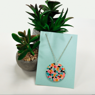 DIY Terrazo Necklace