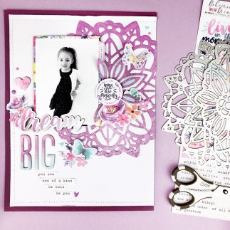 Dream Big Scrapbooking Layout