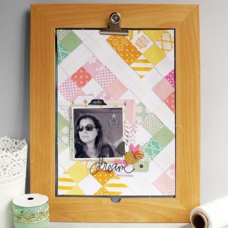 Quilted Style Scrapbook Layout