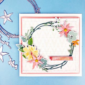 Simply Fabulous Pretty Wreath Card