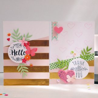 Two lovely cards using Sizzix Sidekick