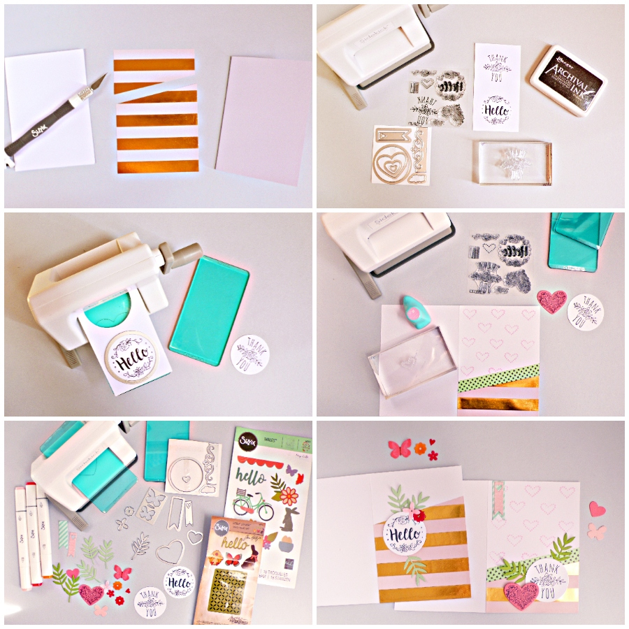 How To Create two lovely cards using Sizzix Sidekick