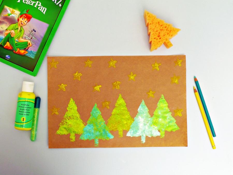 Summer crafts for kids: Make Sponge Stamps