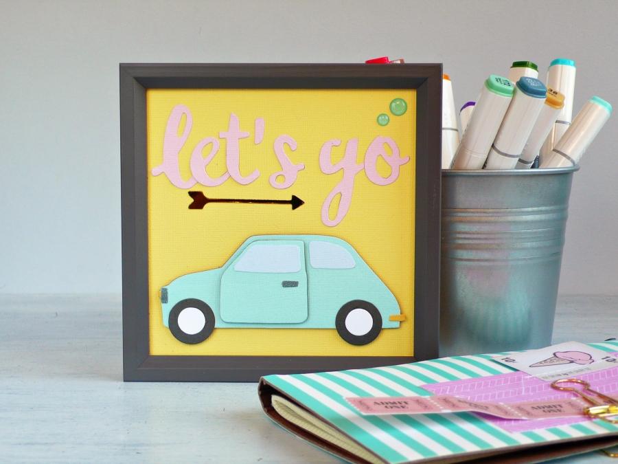 Retro car frame art