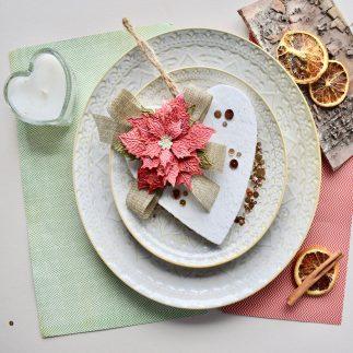 Tattered Floral Heart V-Log