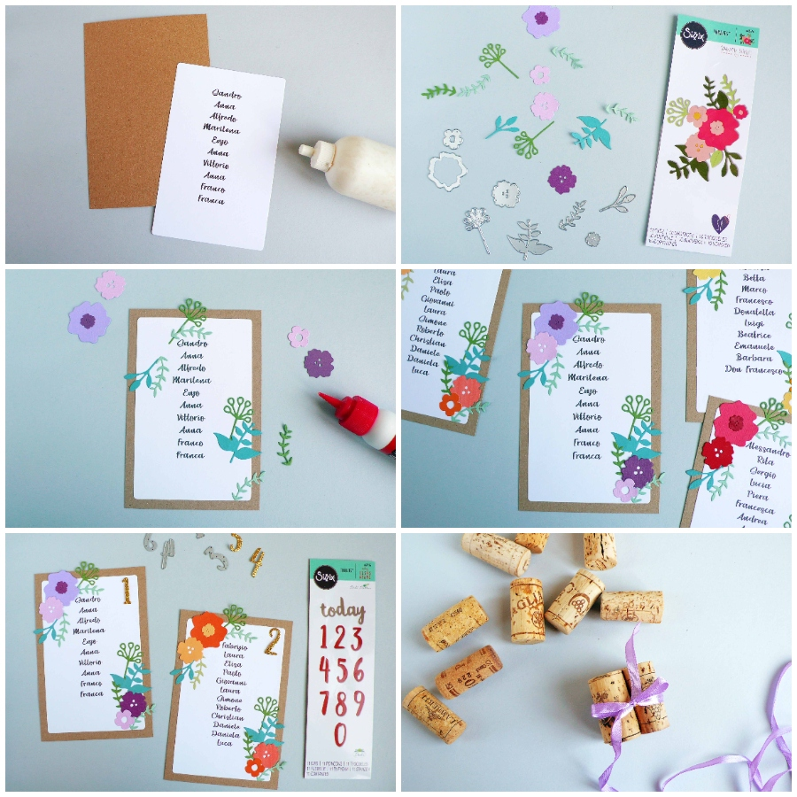 DIY Table Numbers and Wedding Table Seating Plan